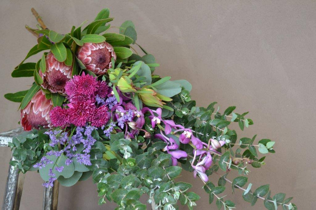 Buds n roses - Native Bouquet in reds