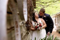 Chloe and Brian Campbell at the log cabin ranch