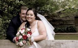 Chloe and Brian Campbell at the log cabin ranch reception (1)