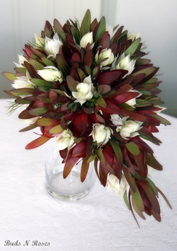 Buds n roses - Native Bouquet in reds an