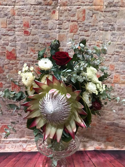 Buds n roses - protea's and roses