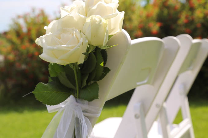 Roses for wedding chairs