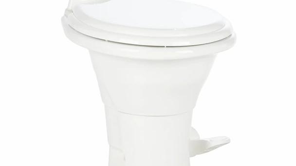 Dometic™ Sealand 310 RV Bathroom Toilet - Porcelain - Foot Flush - White
