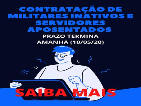 CONTRATAÇÃO DE MILITAR INATIVO E APOSENTADO DA UNIÃO
