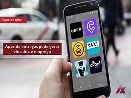 Entregadores de aplicativos, poderão ter vínculo de emprego reconhecido com a UBER eats, 99 e etc..