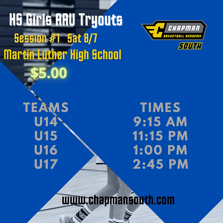 HS Girls AAU Tryouts Session 1