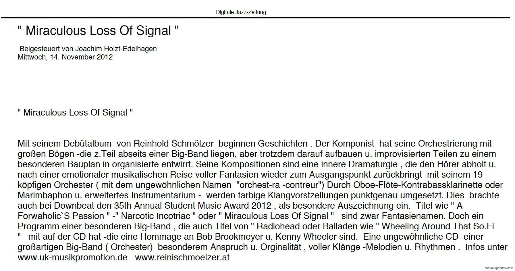 Jazz Zeitung Online