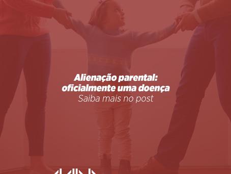 Alienação parental - oficialmente uma doença.