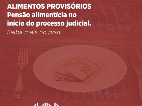 Pensão alimentícia no início do processo judicial