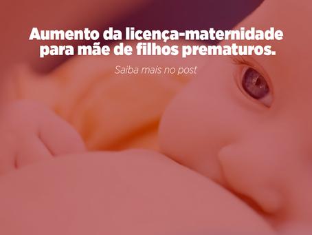 Aumento da licença-maternidade para mãe de filhos prematuros