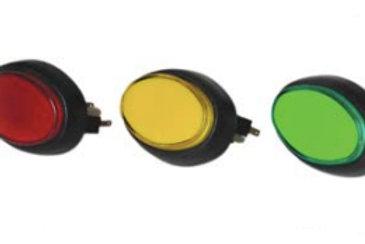 Botões Miniatura Oval( SilverBall )