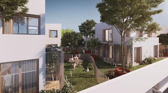 Landscape architecture office, LAO, lyon, paysagiste concepeur, architecte paysagiste, agence, résidence, eau, roseaux, art, cour interieure, landscale