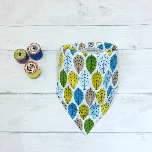 Retro Leaf dribble bib