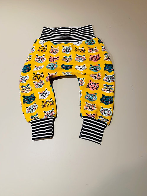 Harem pants with Quirky Cat fabric