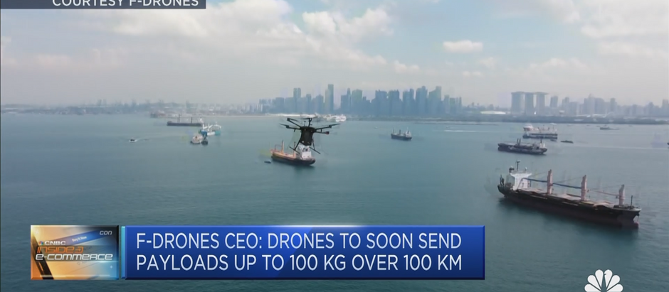 F-drones featured on CNBC