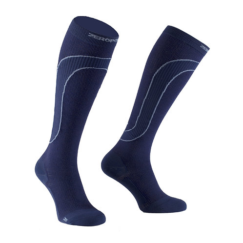 Merino Wool Compression Sock 18 - Navy