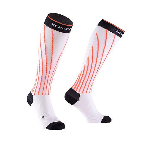 Pro Racing Compression Sock - Weiss/Orange