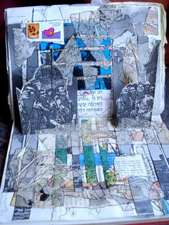 memories #3,pop up collage in found book,30/20cm,2008