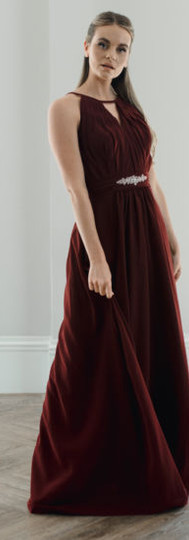 High open neck Bridesmaid dress with beading