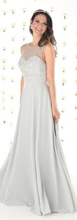 Lace bodice Chiffon Bridesmaid dress