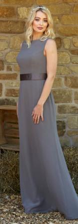 Plain elegant chiffon Bridesmaid dress