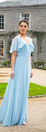 Floaty chiffon bridesmaid dress