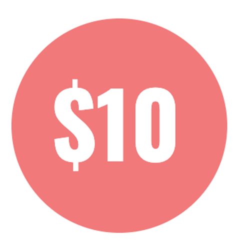 Support - $10 Increments