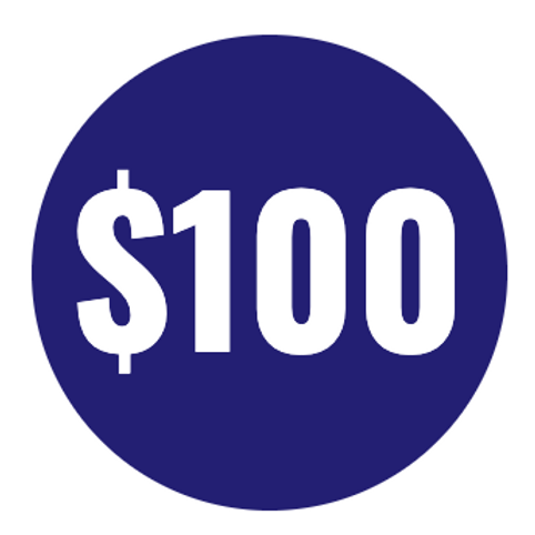 Support - $100 Increments