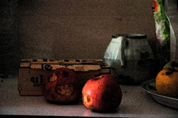 Sucre et pommes, photographie et transformation numérique, 2011