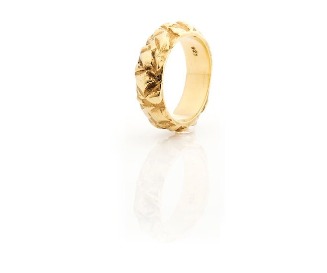 AUTONOMY 12 RING - Sterling Silver 925 & 21K Gold Plated