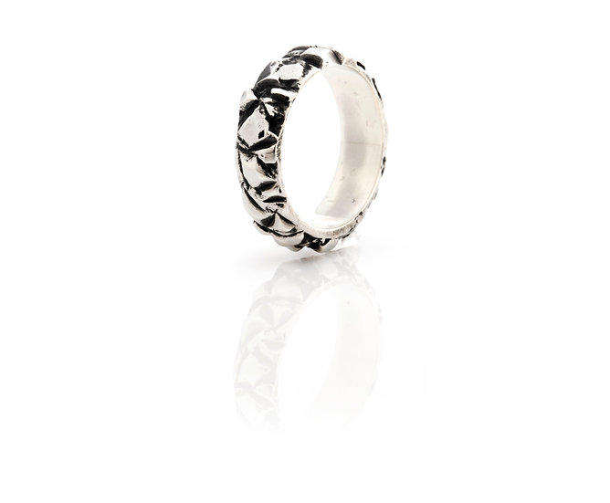 AUTONOMY 11 RING - Oxidized Sterling Silver 925