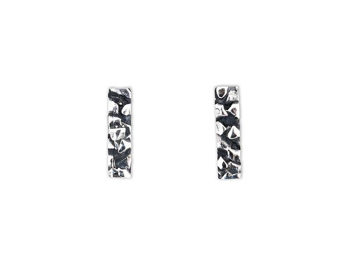 AUTONOMY 5 EARRINGS - Oxidized Sterling Silver 925
