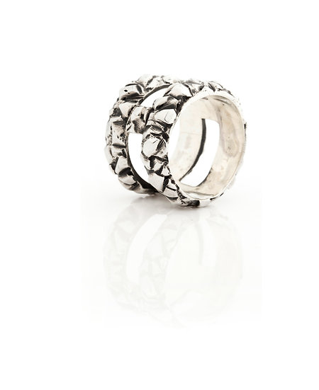 AUTONOMY 9 RING - Oxidized Sterling Silver 925
