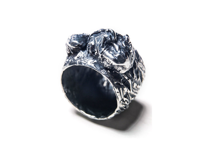 METANOIA 19 RING - Oxidized Sterling Silver 925