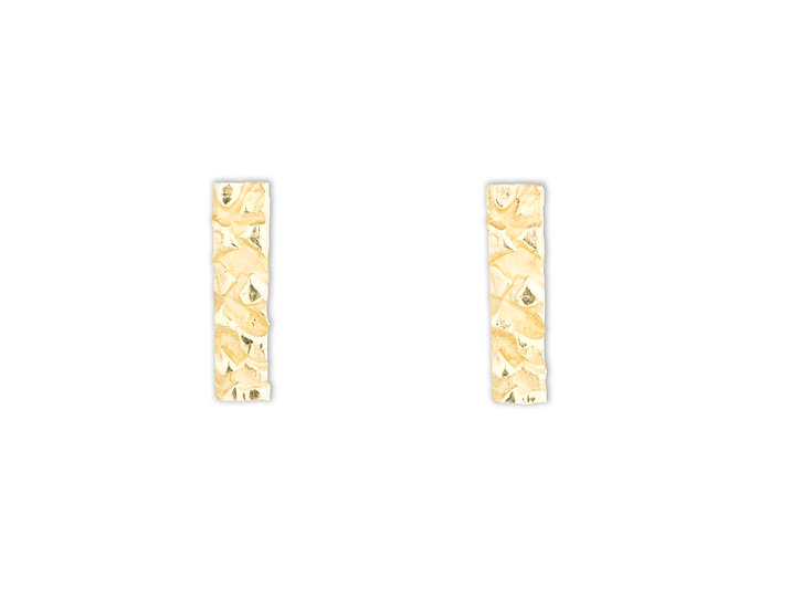 AUTONOMY 4 EARRINGS - Sterling Silver 925 & 21K Gold Plated
