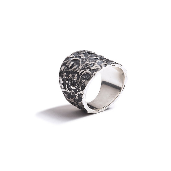 COROPUNA RING - Oxidized Sterling Silver 925