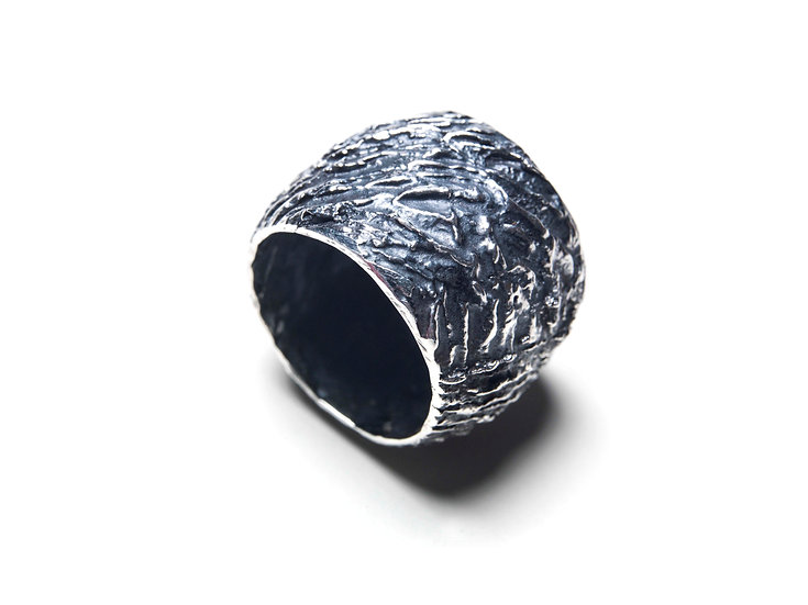 METANOIA 18 RING - Oxidized Sterling Silver 925
