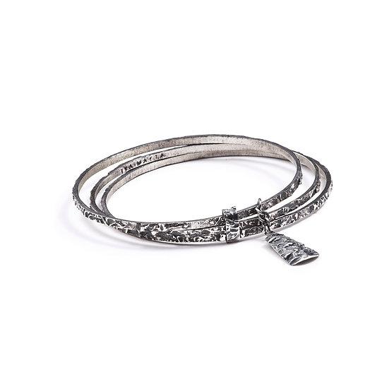 AMPATO BRACELET - Oxidized Sterling Silver 925
