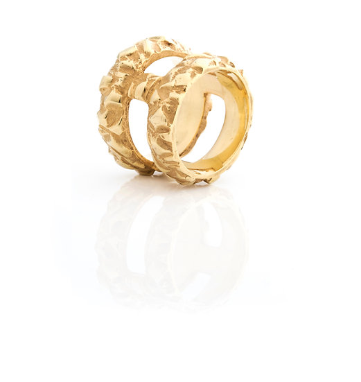 AUTONOMY 10 RING - Sterling Silver 925 & 21K Gold Plated
