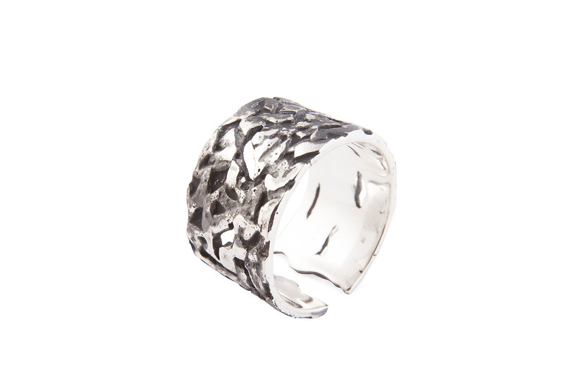 MOTION Nº10 RING - Oxidized Sterling Silver 925