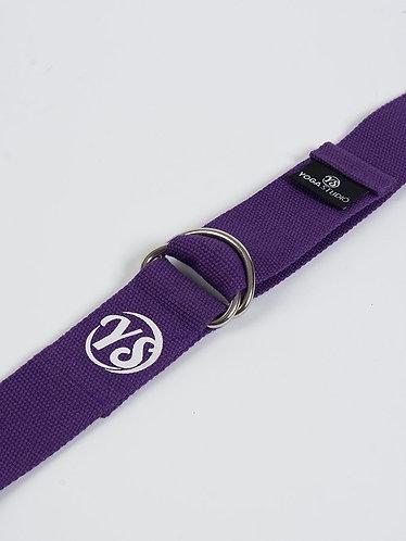 YS Yoga Strap - D-Ring - Purple