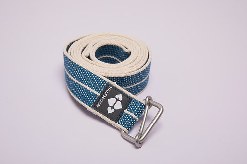 8' Loop Yoga Strap Halfmoon - Organic Cotton - Pacific