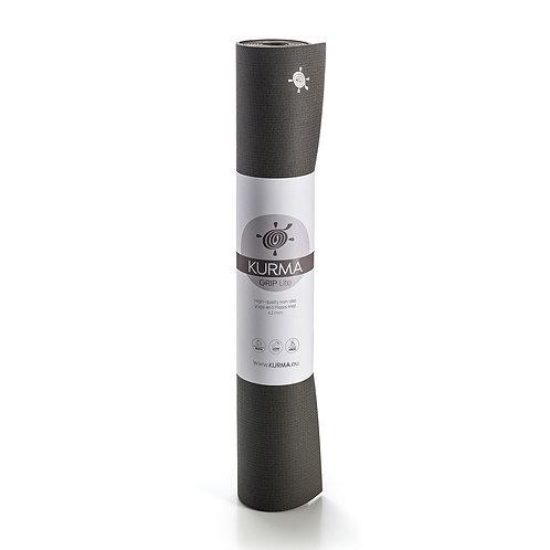 KURMA GRIP LITE - Anthracite - yoga mat - 185cm x 66cm - 4.2mm