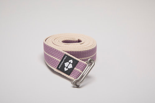 8' Loop Yoga Strap Halfmoon - Organic Cotton - Lilac