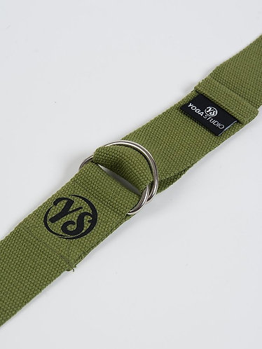 YS Yoga Strap - D-Ring - Olive Green