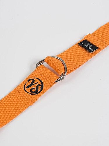 Kopie van YS Yoga Strap - D-Ring - Saffron