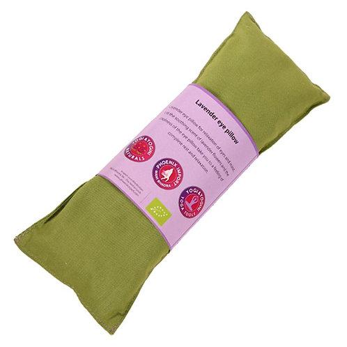 Oogkussen lavendel biologisch - olijfgroen