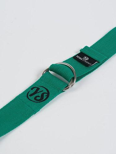 YS Yoga Strap - D-Ring - Jade Green