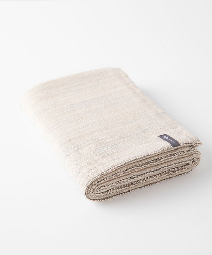 Cotton Yoga Blanket - Melange Sandstone