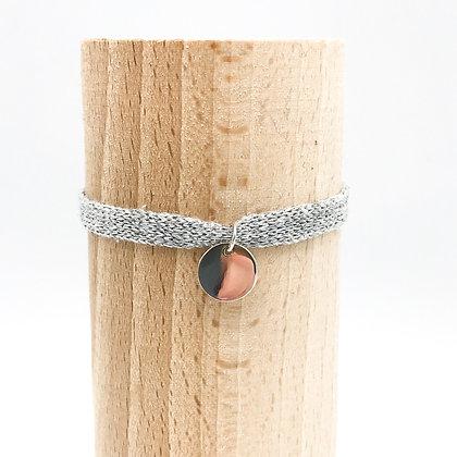 Bracelet Petit Baigneur Coton &  Pastille Argent